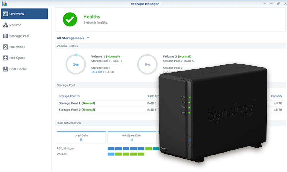 Synology onthult DiskStation Manager 6.2.2